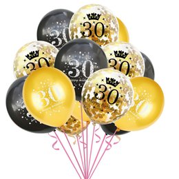 Discount metallic balloons Metallic Pastel Anniversary Balloon 2021 Latex Confetti Balloons Birthday Party Wedding Engagement Decoration Baby Showe