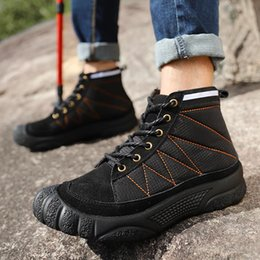 Hiver Homme High Top Baskets Bottes Chaussures Fourrure à l/'intérieur chaud travail extérieur marche d