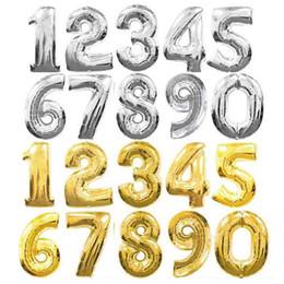 Опт 32 дюймовый золотой Щепка розовое золото Номер воздушный шар на день рождения свадьба украшения фольги воздушные шары ребенок мальчик игрушечный детский душ