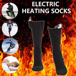 g cotton socks 2020 - Winter Heated Socks Rechargeable Battery Usb Charging Unisex Warm Thermal Skiing Sports Hiking Camping Heating Cotton So
