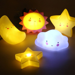 dolphin lights Canada - LED Children Small Lamp Light Creative Dormitory For Desk Night Present Both Birthday Decoration Cute Boy And Girl Eahvj