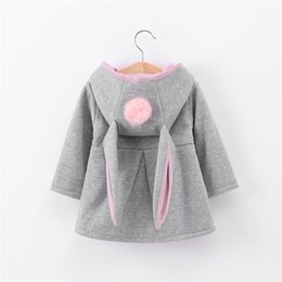 Wholesale 3d coat girl for sale – custom Winter autumn baby girls coat Long sleeve D Rabbit ears fashion casual hoodies kids clothes clothing children Outerwear C1012