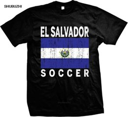 Wholesale el salvador for sale – custom New Arrival Stringer Men Free China Post Shipping El Salvador Distressed Soccerer Flag El Salvadoran Pridegraphic Tees