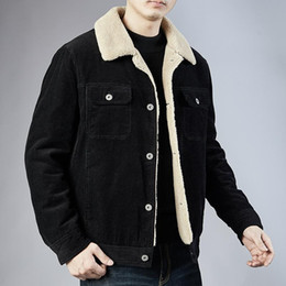 Wholesale mens corduroy coats for sale - Group buy Winter New Men s Casual Corduroy Cotton Padded Coat Loose Coat Cotton Jacket New Designers Winter Jackets Mens