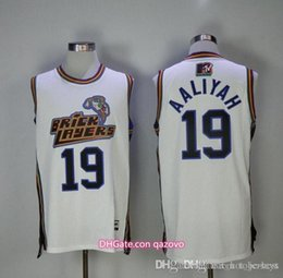 Wholesale free xxl movie online – design Men s Aaliyah Bricklayers MTV Rock N Jock Jersey Movie Basketball Jersey Fashion All Stitched High Quality