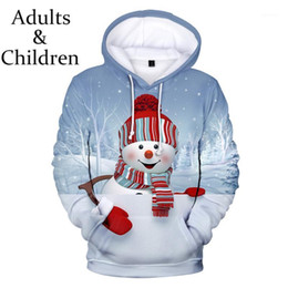 Discount boys popular hoodies Popular Christmas 3D Print Santa Hoodies Men Women casual Hip Hop Sweatshirts Boy Girls comfortable Autumn warm Cute Clo