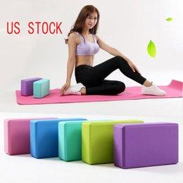 Navio dos EUA Gym EVA Yoga blocos de espuma Formação tijolo Exercício ferramenta de fitness Yoga Bolster travesseiro Shaping corpo Saúde Formação FY6038 em Promoção