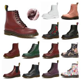 Wholesale designer 1460 ankle 1461 dr platform martin 2976 zip detail men mens women womens fur snow martins boot desert doc boots 36-45