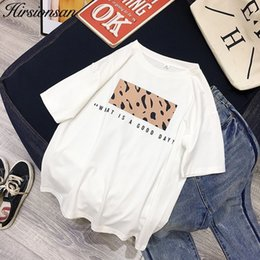 men leopard print t shirts UK - Hirsionsan Leopard Print T shirts Women Spring Summer Hot Tees Casual O-Neck Short Sleeve Harajuku Cool T-shirt Female Tops Y200422
