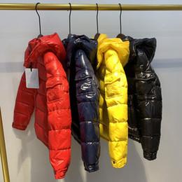 venda por atacado Childrens para baixo jaqueta bebê meninos outono inverno manter jaquetas quentes para meninos crianças colar de pele com capuz casacos morno outerwear para meninos roupas