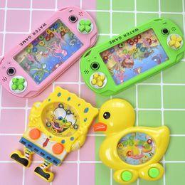Anel desenhos animados da máquina círculo de água pato amarelo máquina de jogo pequeno mini-portátil brinquedo fornecimento tenda infantil nostálgico em Promoção
