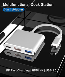 "USB3.1 Type-C to 4K HD-Out 1080p USB-C Digital AV Multiport Adapter 4K OTG USB 3.0 HUB & Charger for Macbook 12"" on Sale"