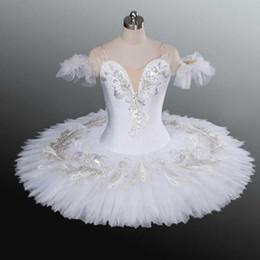 Toptan satış Beyaz Kuğu Gölü Profesyonel Bale Tutu Çocuk Çocuklar için Yetişkin Kadınlar Balerin Parti Dans Kostümleri Baledress Kız