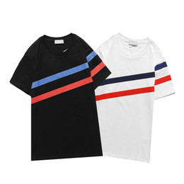 Wholesale striped tshirts for sale - Group buy 2021 New Mens t shirt fashion personalized Men and women Design T shirts Female Tshirts high quality tees black and white cott