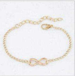 Discount one direction infinity jewelry Fashion One Direction Cheap Girl Jewelry Digital Infinity Bracelets For Women Wholesale Bangle Wedding Bijoux Link Chain