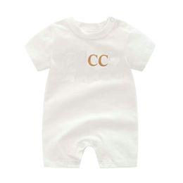 Yeni Yüksek Kalite Moda Yenidoğan Bebek Bebek Erkek ve Kız Mektup Romper Tasarımcısı Yeni Bebek Giysileri 100% Pamuk Marka Çocuklar Tulum