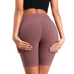 Wholesale phone pants resale online – Women Gym Shorts High Waist Lifting Push Up Tight Cycling Sports Leggings Phone Pocket Jogging Running Fitness Yoga Short Pant