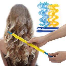 30 cm DIY Sihirli Saç Bigudi Taşınabilir 12 adet Saç Rulo Sticks Dayanıklı Güzellik Makyaj Curling Silindirleri Saç Şekillendirici Araçları W-00594