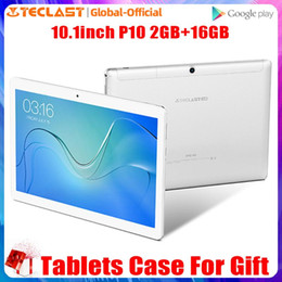 teclast quad core tablet UK - Teclast P10 4G 10.1 Inch MTK6737 Quad Core Tablet Android 8.0 Dual 4G call GPS 2GB RAM 16GB ROM Dual Camera Phone Call Tablets