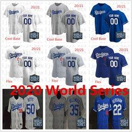 Wholesale baseballs online – design 2020 World Series Dodgers Stitched Turner Muncy Buehler Kershaw Bellinger Betts Cheap Baseball Jersey