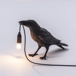 led lights for room Canada - New Auspicious Bird Table Lamp Bedroom Bedside Lamp Animal Shape Bird Table Lamps For Living Room Nordic Study Shop Art led Night Desk Light
