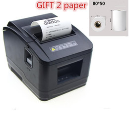 black and white printer Canada - Gift 2 rolls of paper Factory high-quality 80mm thermal receipt printer automatic cutting printing USB port  Ethernet port1