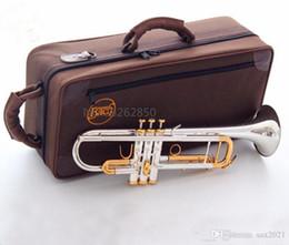 Toptan satış Kalite Bach Trompet Orijinal Gümüş Kaplama Altın Key LT180S-72 Düz BB Profesyonel Trompet Çan Top Müzik Aletleri Pirinç