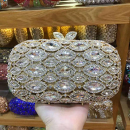designer gold clutch bags Canada - XIYUAN Crystal Bling Clutch Bags Women's Gold Female Pink Day Clutches Evening Bag Handbag Metal Wedding Purse Wallet Lady Color Fkwko