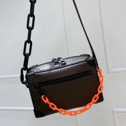 Wholesale women cute tops resale online - Mini Top Quality Women Resin chain shoulder Bags fashion Cute style real leather crossbody shoulder bag handbags for ladies size x13x8cm