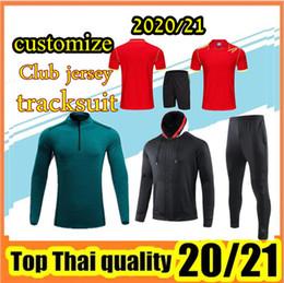 Настроить 2020-2021 Мужчины и детские комплекты треков, куртка, рубашка, комплект + носки, на Распродаже