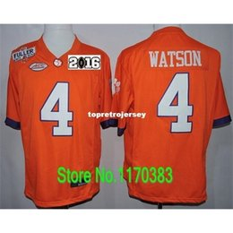 Фабрика Outlet- Playoffs 2016 Patch New Steve Fuller # 4 Deshaun Watson Jersey, Clemson Tigers College Football Jersey, Diamond Quest Logo