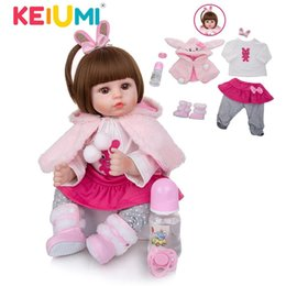 diy cosplay Australia - KEIUMI Soft Cotton Body Realistic Baby Dolls Fashion Princess Girl Doll Baby Reborn Toys Cosplay Rabbit Toddler Birthday Gifts LJ201031