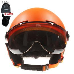 Wholesale helmet green online – ideas MOON High Quality Skiing Helmet Goggles Integrally Molded PC EPS Ski Helmet Outdoor Adult Sport Ski Skateboard Snowboard Helmets
