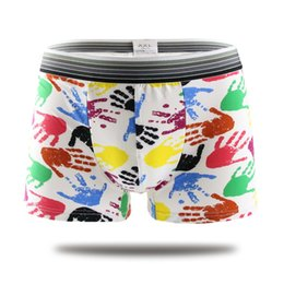 Wholesale guys boxers resale online - 7pcs Sexy underwear boxer Men Shorts Mens Clothing boxers panties shorts Sexy fat guy mens shorts Print Cartoon
