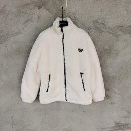 Wholesale turtle neck coats for sale - Group buy USA Autumn Winter warm Fashion Lamb Wool triangle Wadded Jacket Women Pocket Jacket Streetwear Coat