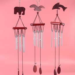elephant gift craft NZ - Wooden wind chime cross border Haiou elephant dolphin new home decoration gift source craft decoration freeshipping