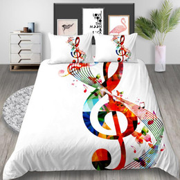 musical bedding sets UK - Thumbedding Musical Notes Bedding Set Queen Size Creative Artistic Duvet Cover King Twin Full Single Double Comfortable Bed Set