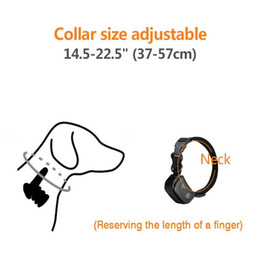 anti bark collar vibration Canada - Remote Electric Dog Collar Pet Shock Vibration Dog Training Collar Rechargeable Waterproof Anti Barking Device With Lcd wmtwwf