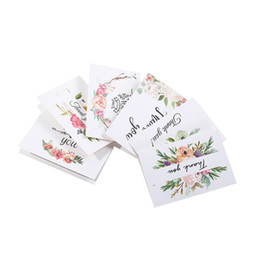 Wholesale thanksgiving papers online – design Thank You Greeting Card Thanksgiving Day Christmas Birthday Greeting Card Paper Flower Printed Greeting Card FWF1225