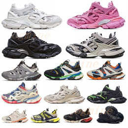 seguimiento de la nave al por mayor-chaussures hommes balenciaga balenciaca balanciaga spiridon caged Casual runner shoes Metallic Silver Lemon Venom Pistachio Frost Track womens mens trainers sports sneakers