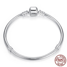 2020 New Top Sell Luxury 100% 925 Sterling Silver Snake Chain Wedding Bracelet Bangle for Women Authentic Smooth Charm Jewelry Lover Gift on Sale