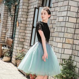 tutus for plus size women Australia - 7 Layer 60Cm Tulle Skirt Women Summer A Line Midi Skirts Female High Waist Tutu Pleated Skirts For Women School Sun Skirt