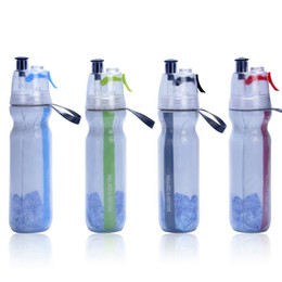 water bottle cooler bag UK - Keep Cool Insulated Bike Water Bottle Spray Mist Squeeze Bottle 17 oz (500ml). BPA Free 201105