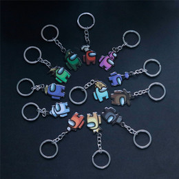 anime car accessories Canada - Among Us Designers Keychain Games Among Us Keychain Anime Cute Cartoon Colourful Keyrings Keychains Car Keys Accessories SALE E122403 Mgejp