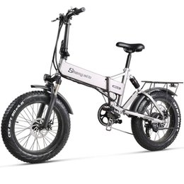 Wholesale adult bicycles online – design Shengmilo MX21 Electirc Bike v W AH Inch Electric Bicycle Fat Tire Adults Folding Mountain Bike