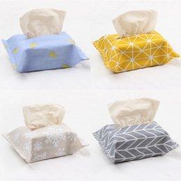 Magie klebende Tissue Boxen Baumwolle und Leinen Papiertuch Tasche Originalität OPP Packung Serviettenkästen Beliebte Wiederverwendbare 1 9BJ J1 im Angebot