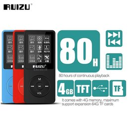 Original RUIZU English version Ultrathin Player with storage and 1.8 Inches Screen can play with FM Radio E-book LJ201016 on Sale