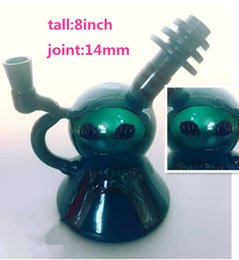 Wholesale coronaFactory new corona Sandblasting Recycler Glass Bong Water Pipe with 14mm male joint Glass Bowl Oil Rig suit Quartz Nails Bongs water P