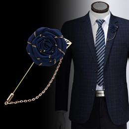 Tecido misto vintage rosa broches borla cadeia homens terno collar broche broche lapela pin broches para mulheres acessórios de jóias em Promoção
