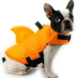 Wholesale pet sharks for sale – custom Pet Dog Life Vest Shark Pet Life Clothes Dogs Jacket Dog Swimwear Pets Swimming Suit Dogs Vest Clothes